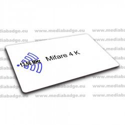 100 Cartes Mifare 4K EV1