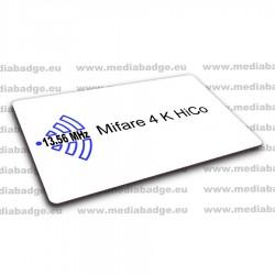 100 Cartes Mifare 4K HiCo