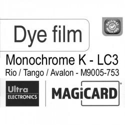 Film Magicard monochrome Noir LC3 M9005-753