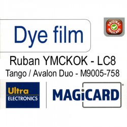 Film couleur Magicard LC8 YMCKOK - M9005-758