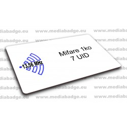 Carte Mifare 1k 7 UID
