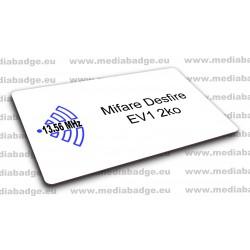 Carte Mifare Desfire EV1 2ko