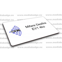 Carte Mifare Desfire EV1 4ko