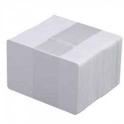 100 Cartes PVC Adhésives blanches - 86 x 54 mm
