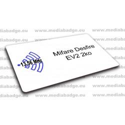 Carte Mifare Desfire EV2 2ko