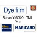 Film couleur YMCKO 250 cartes Magicard Tempo TM1
