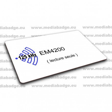 100 Cartes EM4200 125 KHz lecture seule