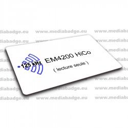 100 Cartes EM4200 125 KHz HiCo lecture seule