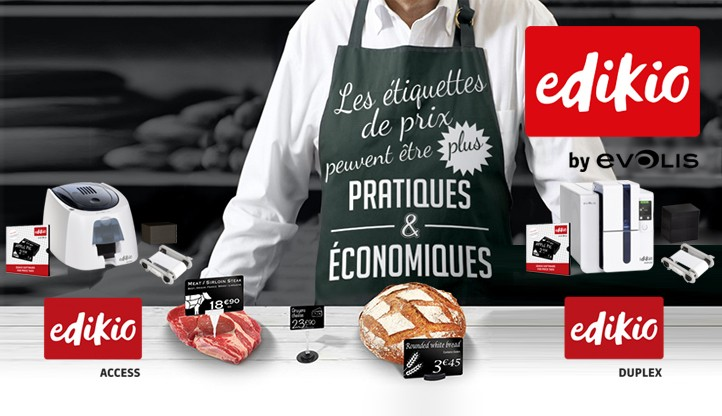 Etiquettes Prix Edikio by Evolis